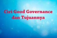 Karakteristik Good Governance